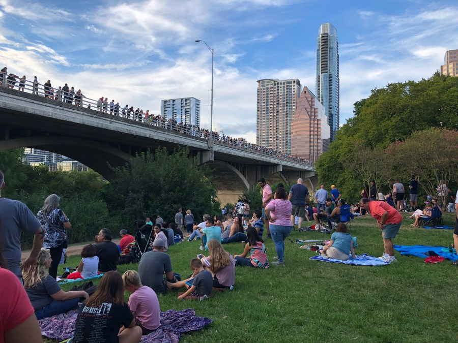 Bat bridge during relaxed 2-day itinerary in Austin with kids