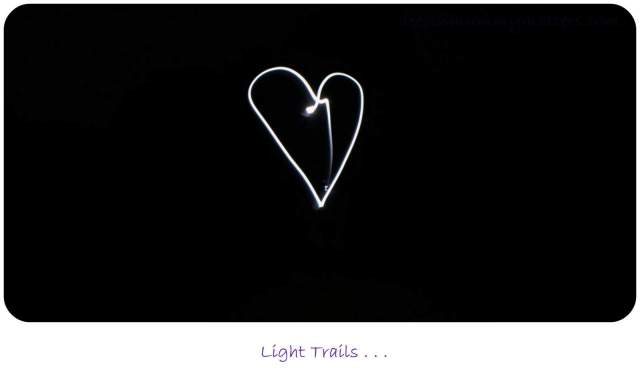 Love Heart Light Trail