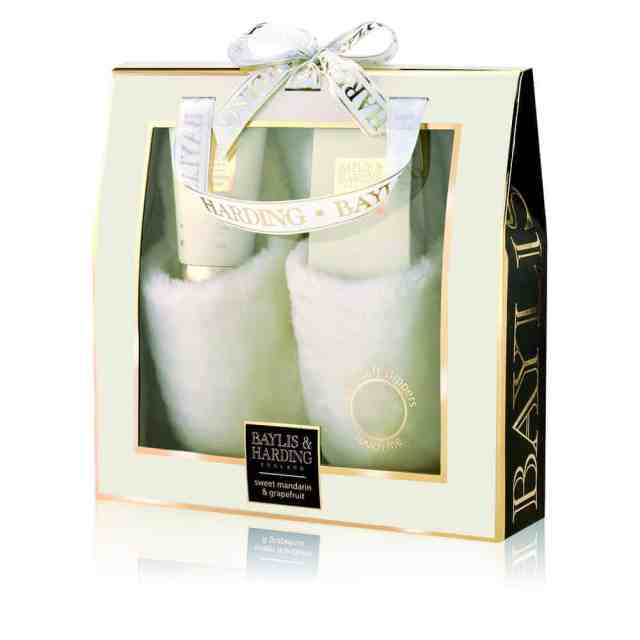 Baylis and Harding Sweet Mandarin and Grapefruit Slipper Set