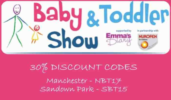 Baby & Toddler Show Discount Code