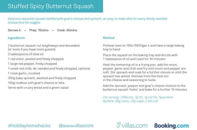 Stuffed Spicy Butternut Squash