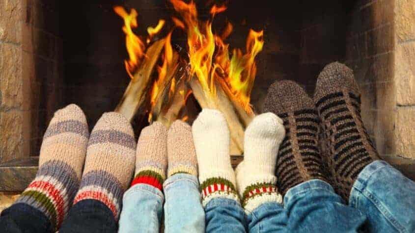 socks-by-the-fire