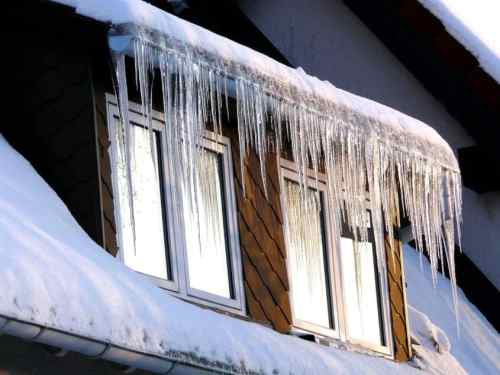 Window Frost Roof White Winter Cold Ice Icicle