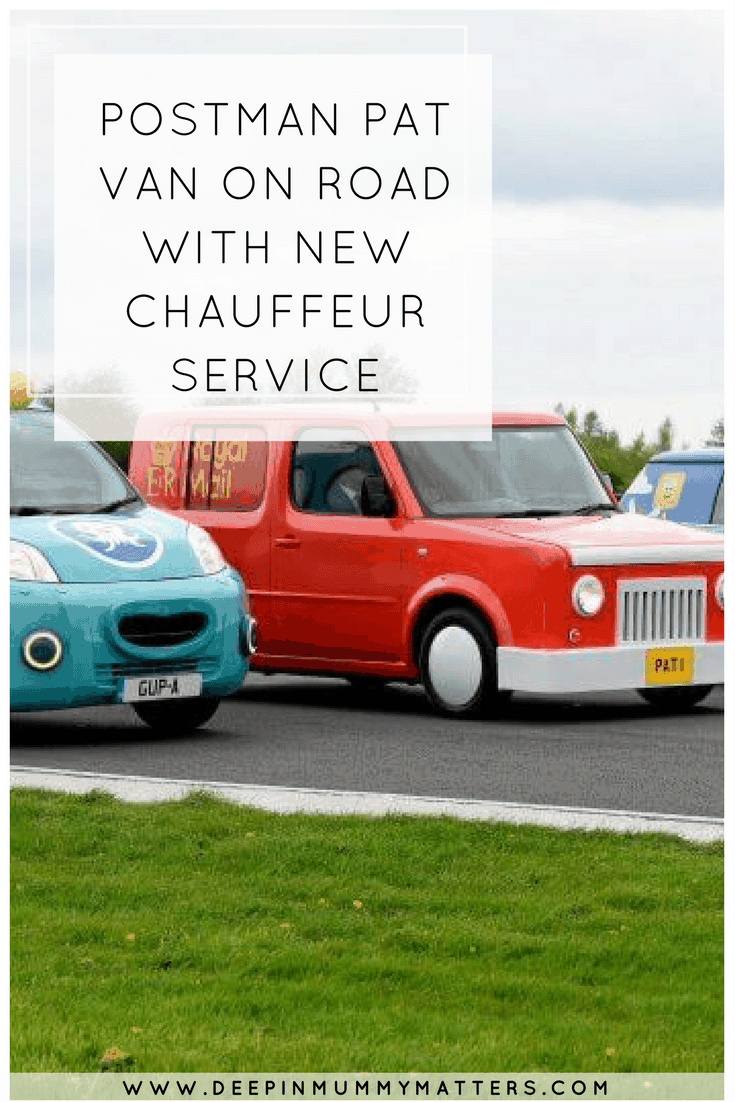 POSTMAN PAT VAN ON ROAD WITH NEW CHAUFFEUR SERVICE