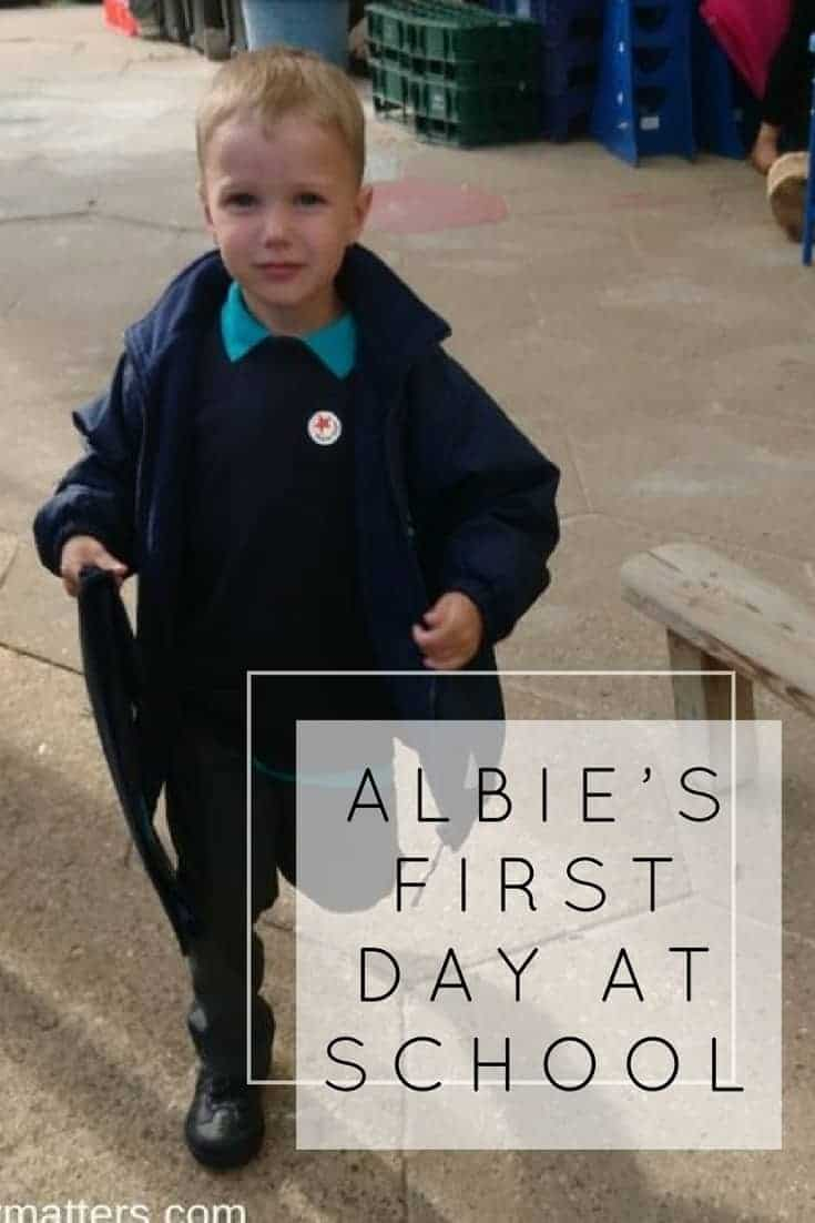 A new chapter in our lives has begun. Albie started his first day at school.