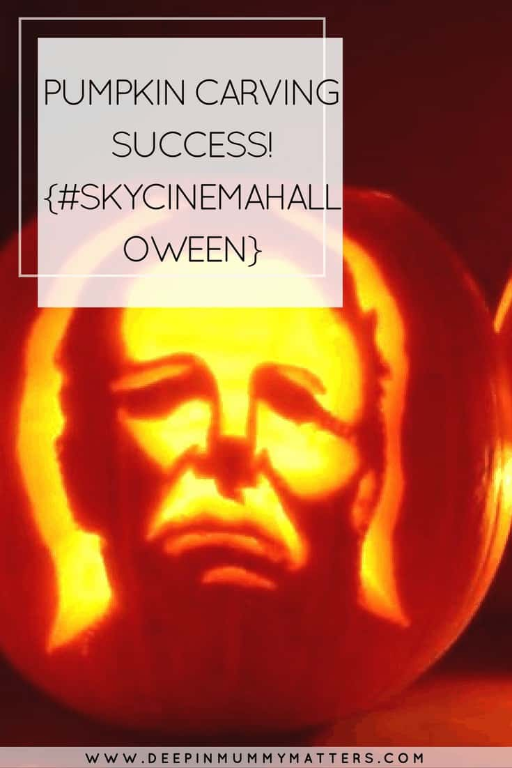 PUMPKIN CARVING SUCCESS! {#SKYCINEMAHALLOWEEN}