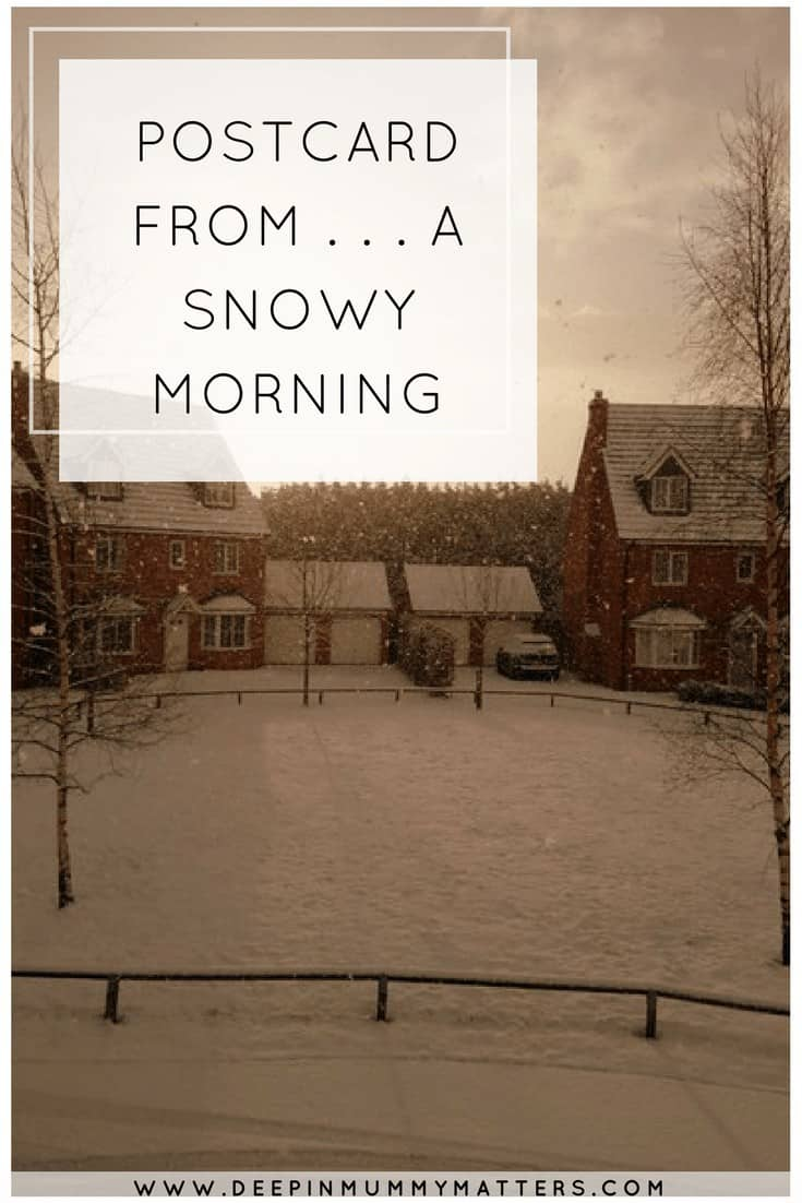 POSTCARD FROM . . . A SNOWY MORNING