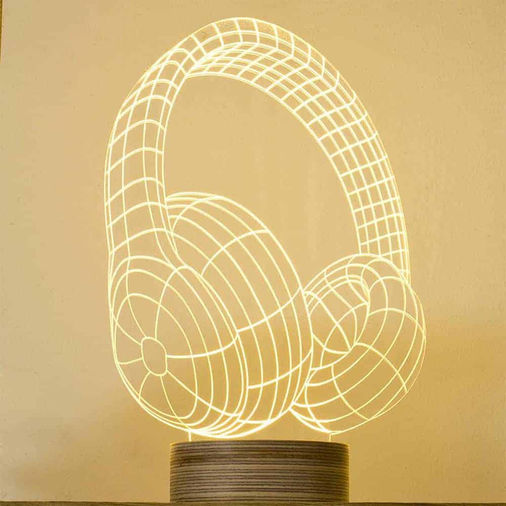 Dj Headphones Lamp