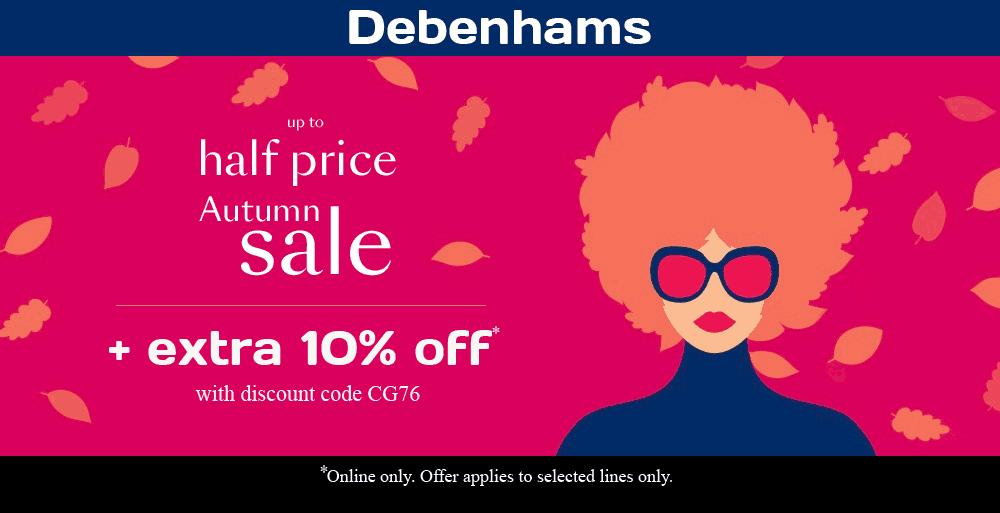 Debenhams Sale and Discount Code