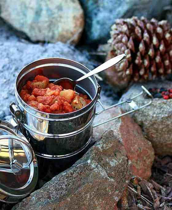 Camping food