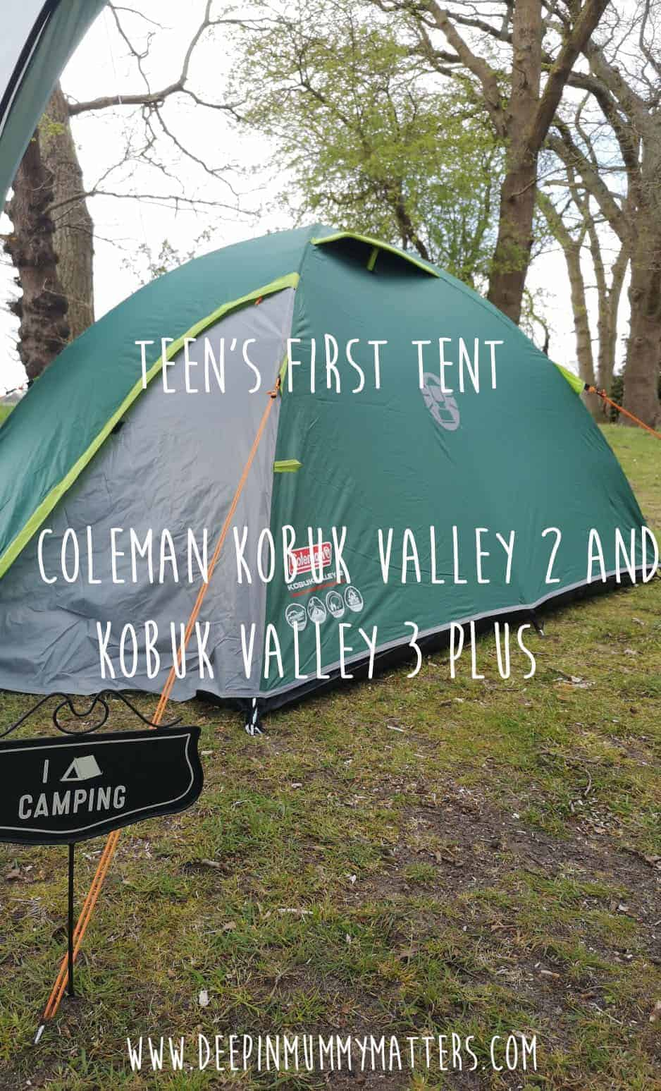 Teen's First Tent - Coleman Kobuk Valley 2 and Kobuk Valley 3 Plus 1