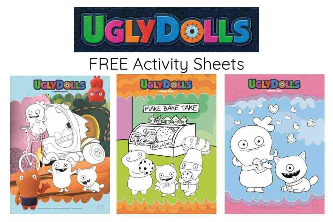 Uglydolls Activity Sheets