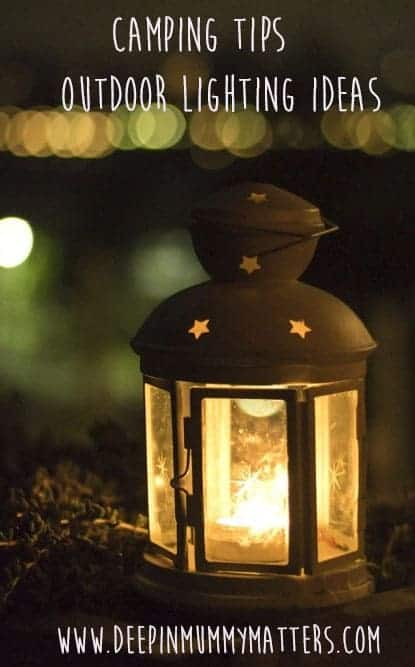 Camping tips outdoor lighting