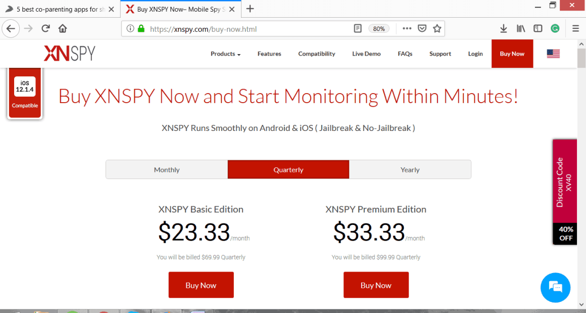 XNSPY Quarterly Packages