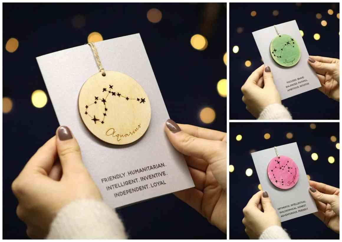 Personalised Horoscope Christmas Cards