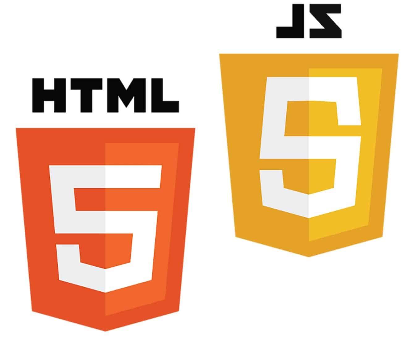 HTML and JS logos