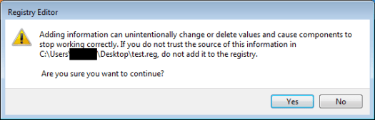 confirm registry change