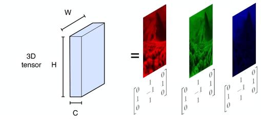 image tenseur cannaux rgb matrice
