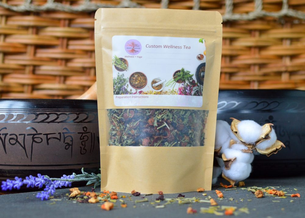 Custom herbal tea by Deeply Rooted Wellness + Yoga