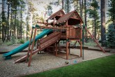 Soft fall woodchip playground area