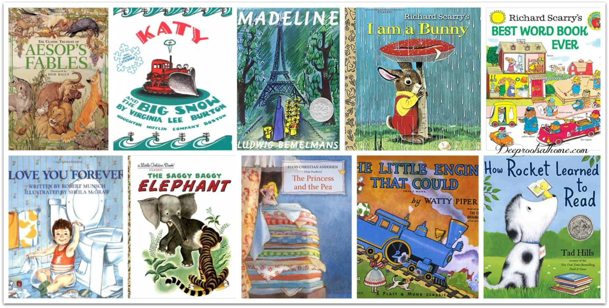 Early Reading Library: 75 Of The Best Little Children's Books Of All Time, reading aloud, thinking patterns, academic ability, communication skills, glue, bonding with parent, spending time, quality time, walk side by side, adventure, snuggling up, reading on the couch, teaching how to read, literacy, love to read, books, children's books, classic literature, children's lit, education, nurture, young kids, authors, favorite books, The Story about Ping, Marjorie Flack, The Most Wonderful Doll in the World, Phyllis McGinley, Blueberries for Sal, Robert McCloskey, Curious George, H. A. Rey, Pretzel, Margret Rey, Make Way for Ducklings, Betsy-Tacy, Winnie-the-Pooh, A. A. Milne, The Cat in the Hat,  Dr. Seuss, The Story of Ferdinand, Munro Leaf, Good Dog, Carl, Alexandra Day, The Mouse and the Motorcycle, Beverly Cleary, Little Bear, Elsa Holmelund Minarik, Owl Moon, Jane Yolen, Frog and Toad Storybook , Arnold Lobel, Paddington Bear, Harold and the Purple Crayon, Corduroy, Don Freeman, Owl at Home, My Father's Dragon, James and the Giant Peach, Roald Dahl, Autumn Story (Brambly Hedge), Little House in the Big Woods, Laura Ingalls Wilder, The Mitten, The Hat, Jan Brett, The Snowy Day , Peter's Chair, Ezra Jack Keats, Goodnight Moon, Margaret Wise Brown, Pippi Longstocking, Astrid Lindgren, Mrs. Piggle-Wiggle, Town Mouse, Country Mouse, Miss Rumphius, Barbara Cooney, Amelia Bedelia, Peggy Parish, Plain Princess, out of print, book search, C.S. Lewis quote, Animal Stories, Thornton W. Burgess, The Poky Little Puppy, Little Golden Book, Janette Lowrey, The Very Hungry Caterpillar, Mr. Frumble's Coffee Shop Disaster, Richard Scarry, Tikki Tikki Tembo, Arlene Mosel, Mr. Brown Can Moo, Can You?, Dr. Seuss, Guess How Much I Love You, Board Book, Chicka Chicka Boom Boom, board book, Mike Mulligan and His Steam Shovel, Virginia Lee Burton, Lentil