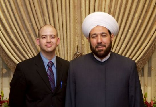 Jason Hamacher with Ahmad Bedreddin Hassoun, Grand Mutfi of Syria ((Photo: Jason Hamacher/CC-BY-NC-ND 2.0)