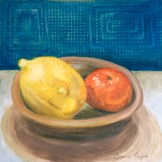Caroline Payne -Still Life With Lemon And Tangarine