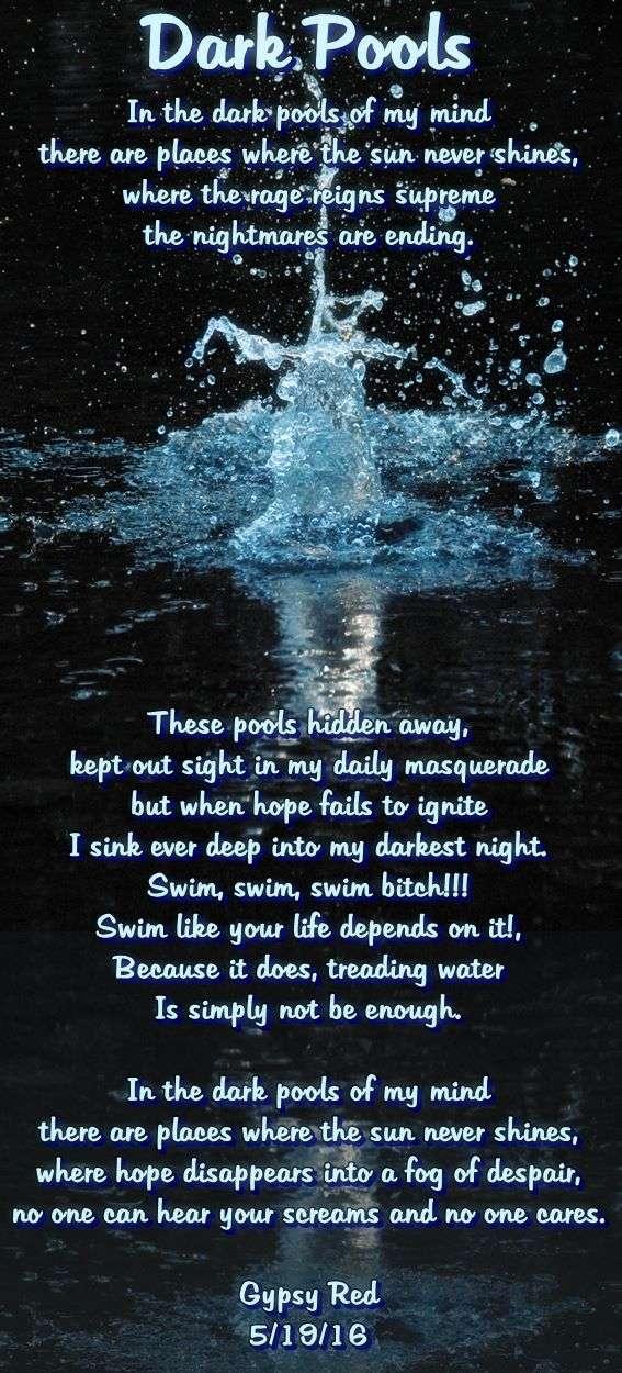 Dark Poems Dark Pools DU Poetry