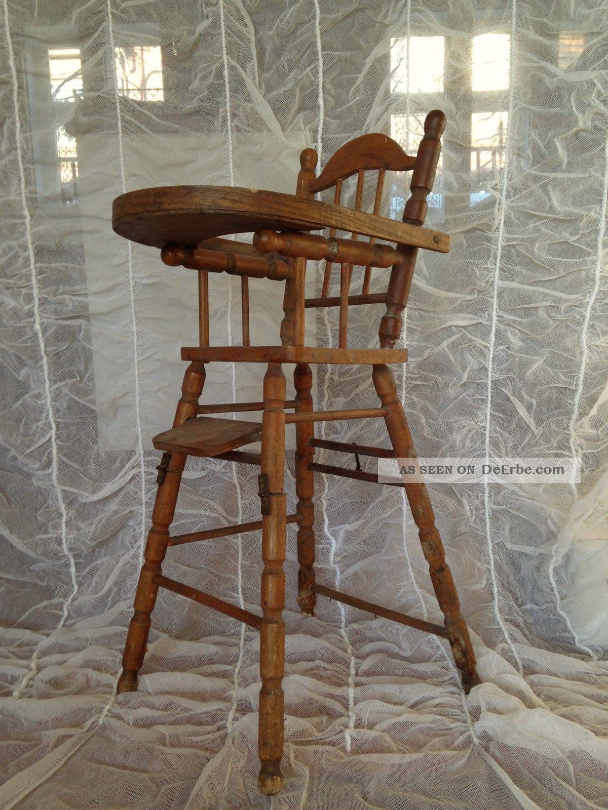 Antiker Hochstuhl Stuhl Puppenhochstuhl F Puppe Teddy