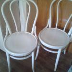 2 Schone Alte Bistro Stuhle Holz Weiss Kult