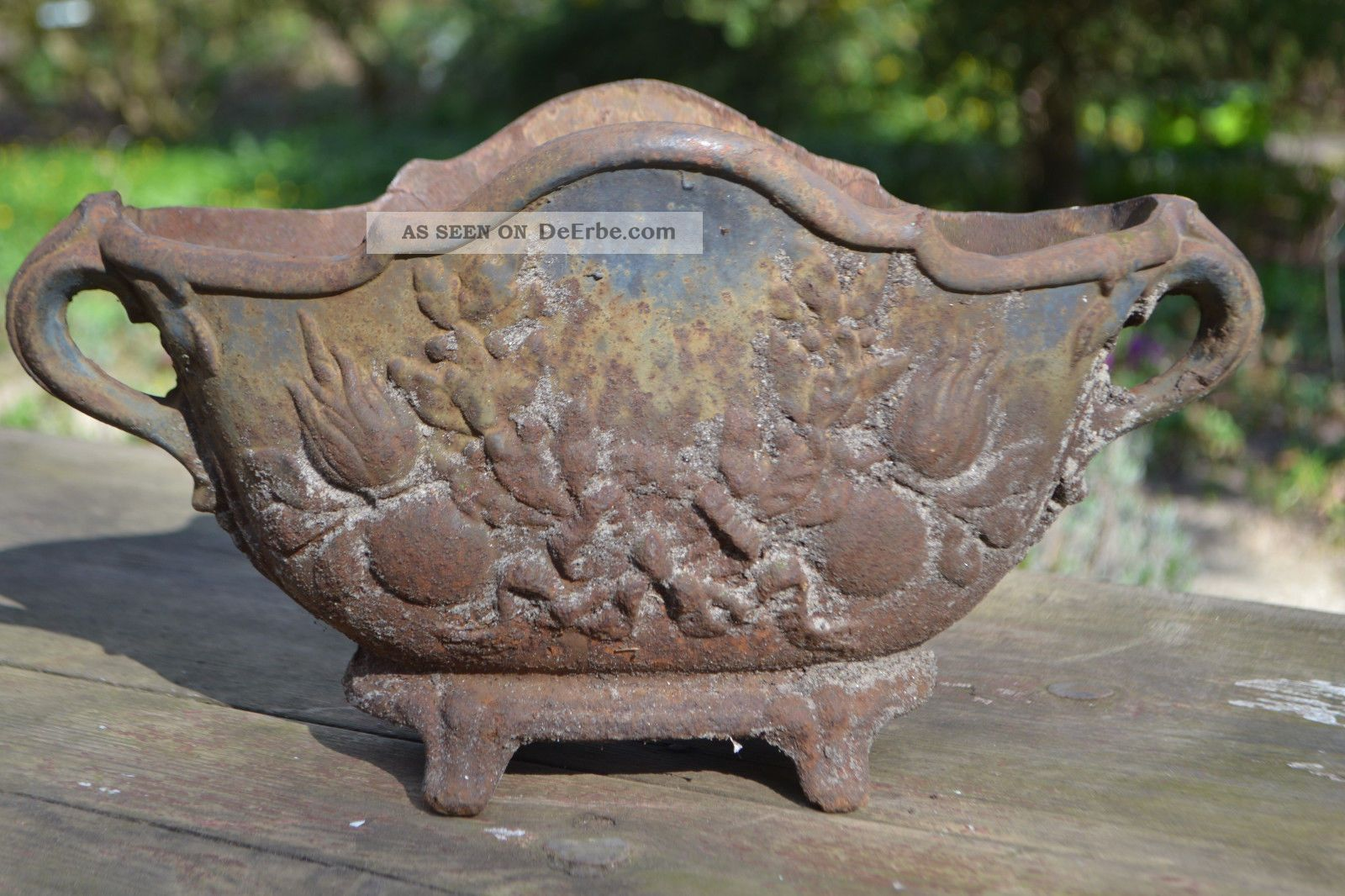 Jardiniere Blumenkasten Eisen Metall Shabby Frankreich