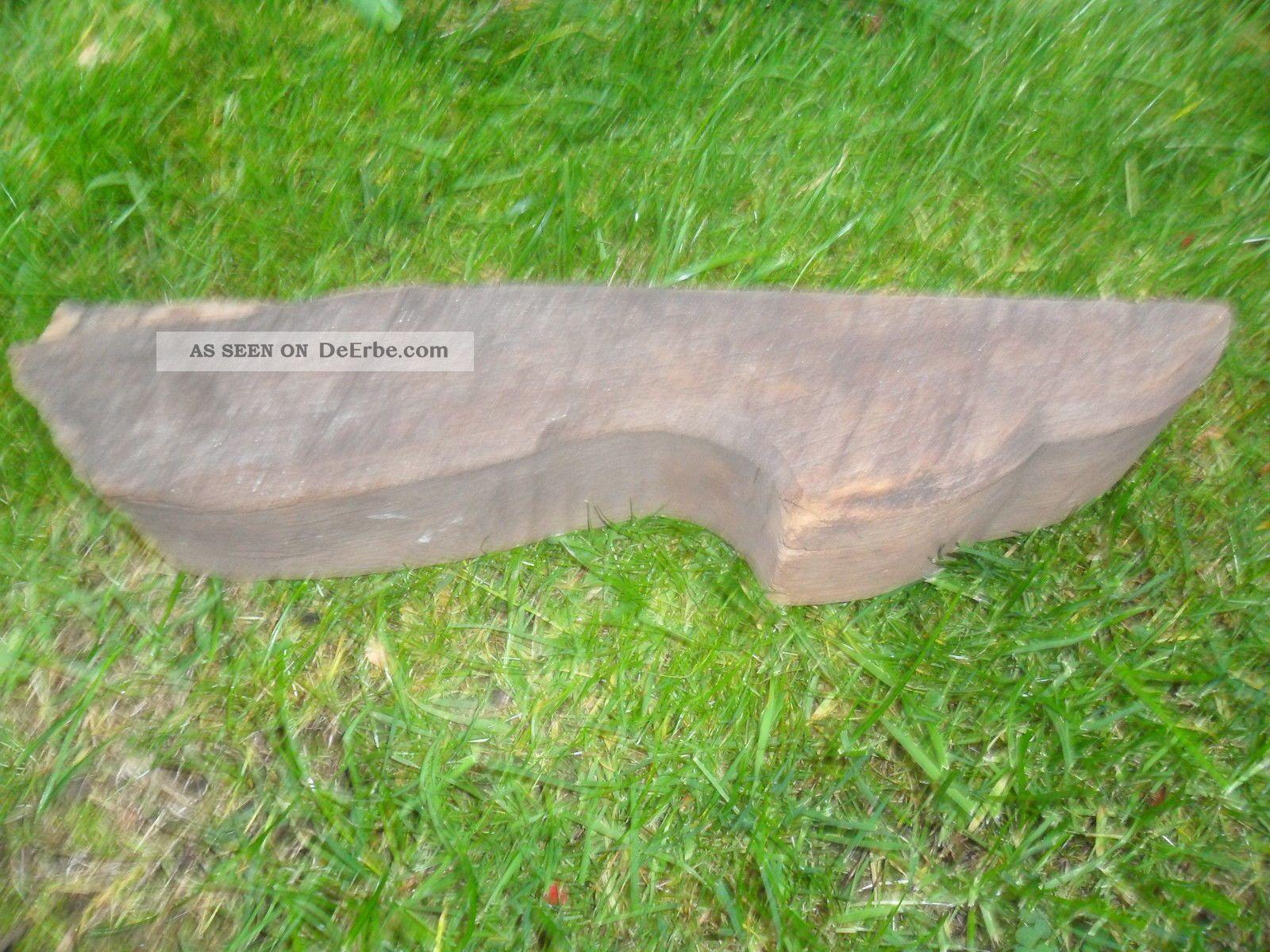 Alter Sparrenkopf Eichenbalken Stele Skulptur Garten