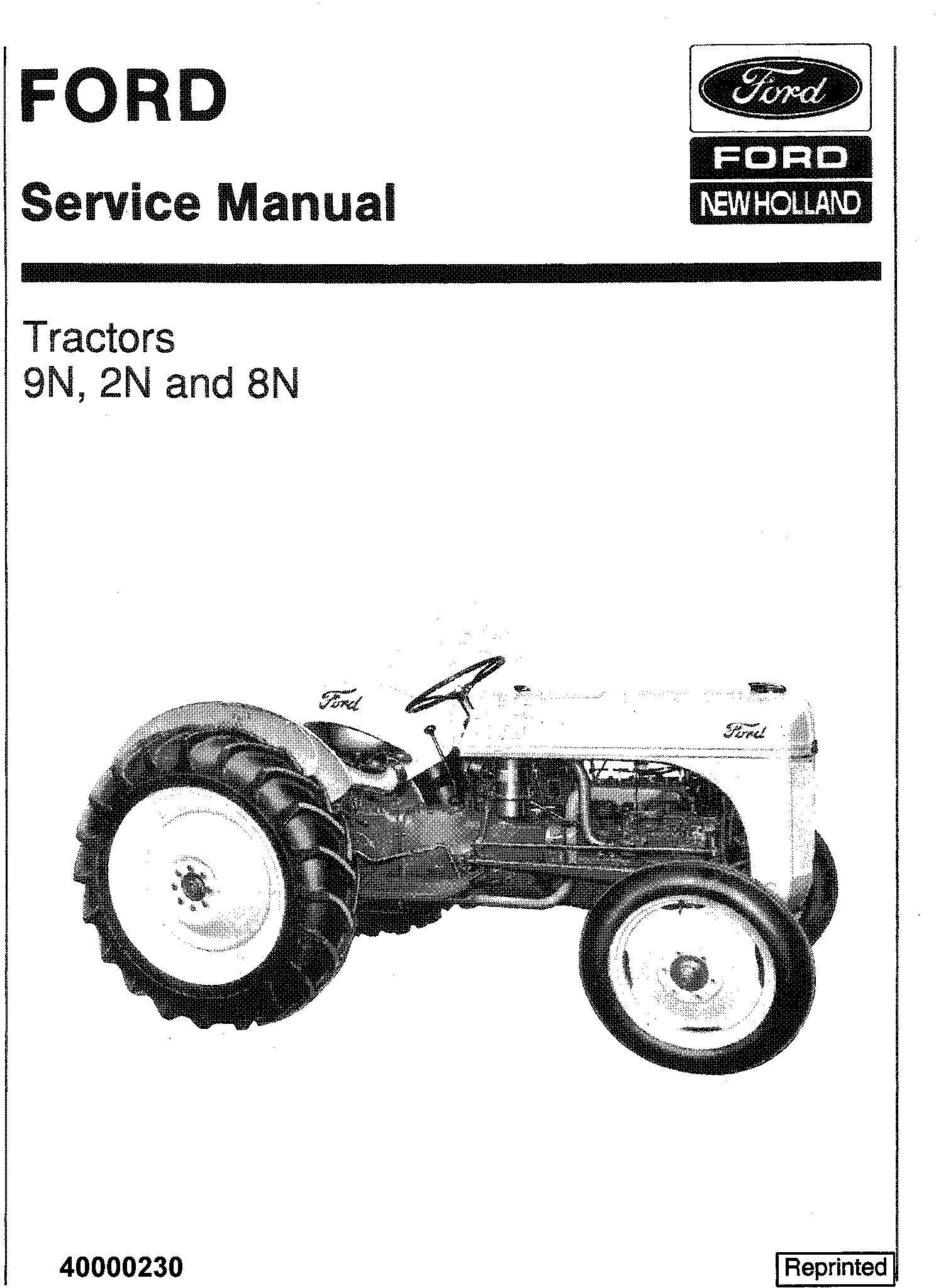 Ford 9n 2n 8n Tractor Service Manual Deere Technical Manuals
