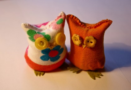 owls from baby socks