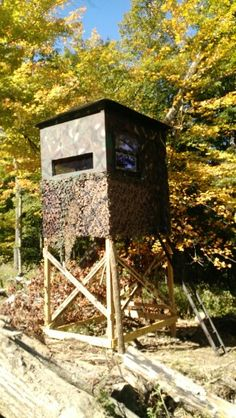 How to build a deer blind how to build a hunting deer for Building deer blind windows
