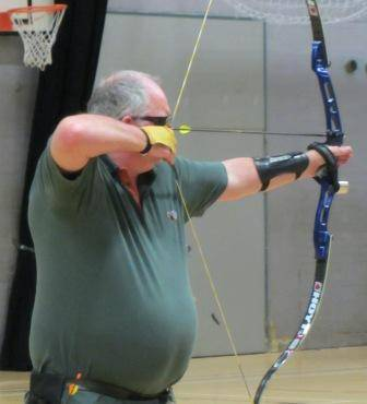 Kev Sutherland, 2 Golds at Evesham. Now shooting Longbow