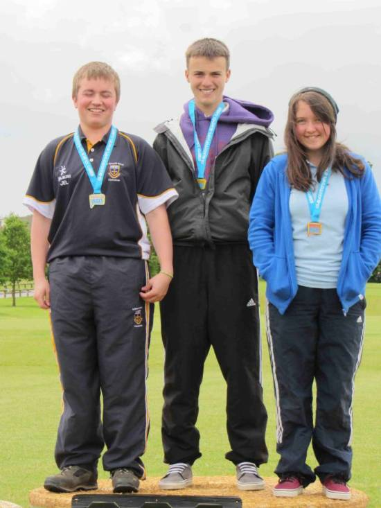 James Howse, James Lawton & Lucy Mason following their success at the school games.