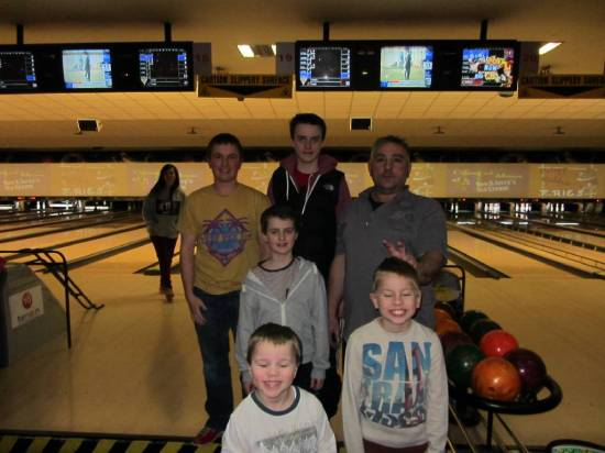 One of the teams that competed in the last 10 Pin Bowling evening.