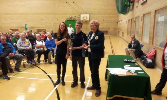 2 of our winning Junior Team, Rachel & Josh with Riley missing. The 3 were good enough to beat teams of 4 !