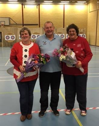 Lynn Benfield & Mel Sutherland receiving a small token of thanks for their support over the years.