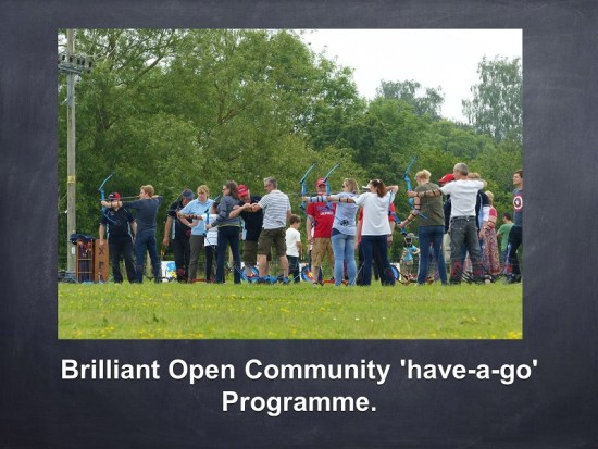 Brilliant Open Community have-a-go sessions.