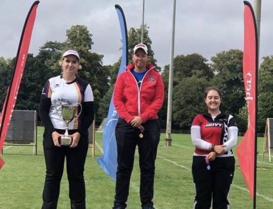 Ella Gibson British Target Championship Winner and runner-up Lucy Mason.