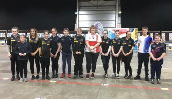 Just some of our team competing at the British Junior Indoor Championships.