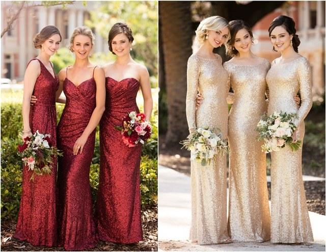 2019 Wedding Trends – 7 Glitter Wedding Color Ideas