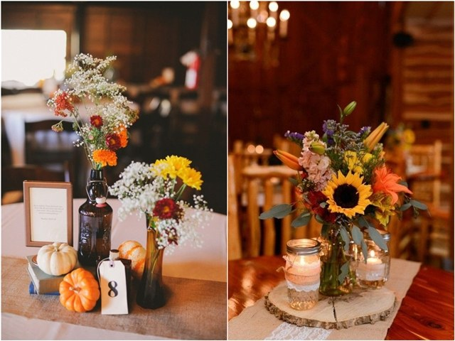 45 Fall & Autumn Wedding Centerpieces Ideas
