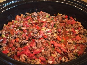 Chili Cooking in Crockpot Pic 1