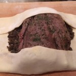 Beef-Wrapping in Pastry Dough