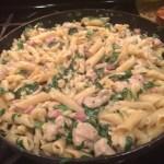 Cooking Pasta Carbonara