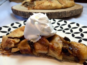 Caramelized Apple Galette w/whipped cream
