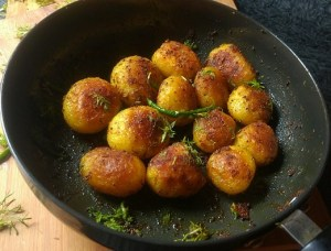 Spicy Whole Potatoes
